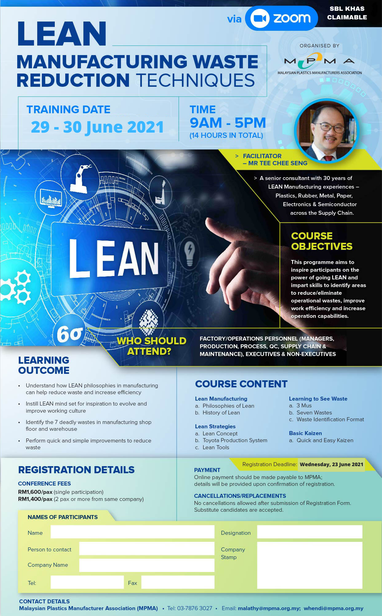 Lean Manufacturing Waste Reduction Techniques via Zoom