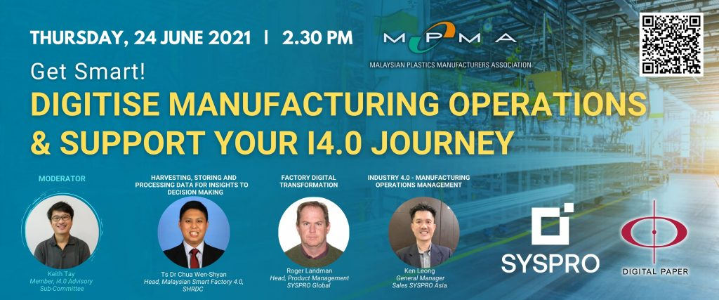 Digitise Manufacturing Operations & Support Your  I4.0 Journey