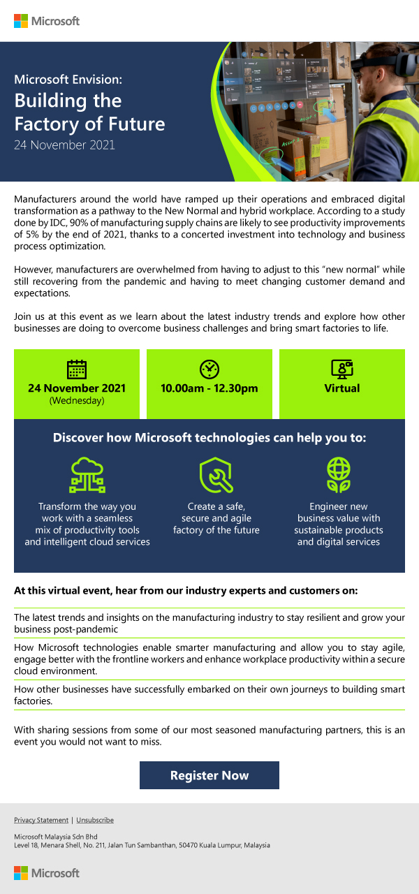 Microsoft Envision: Building the Factory of Future